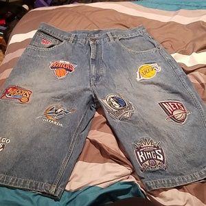 UNK NBA jean shorts
